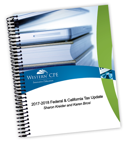 Federal and California Tax Update Manual