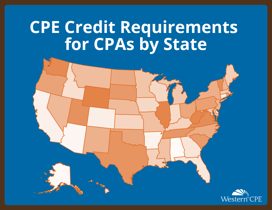 CPE Credit Requirements by State & Organizations | Western CPE