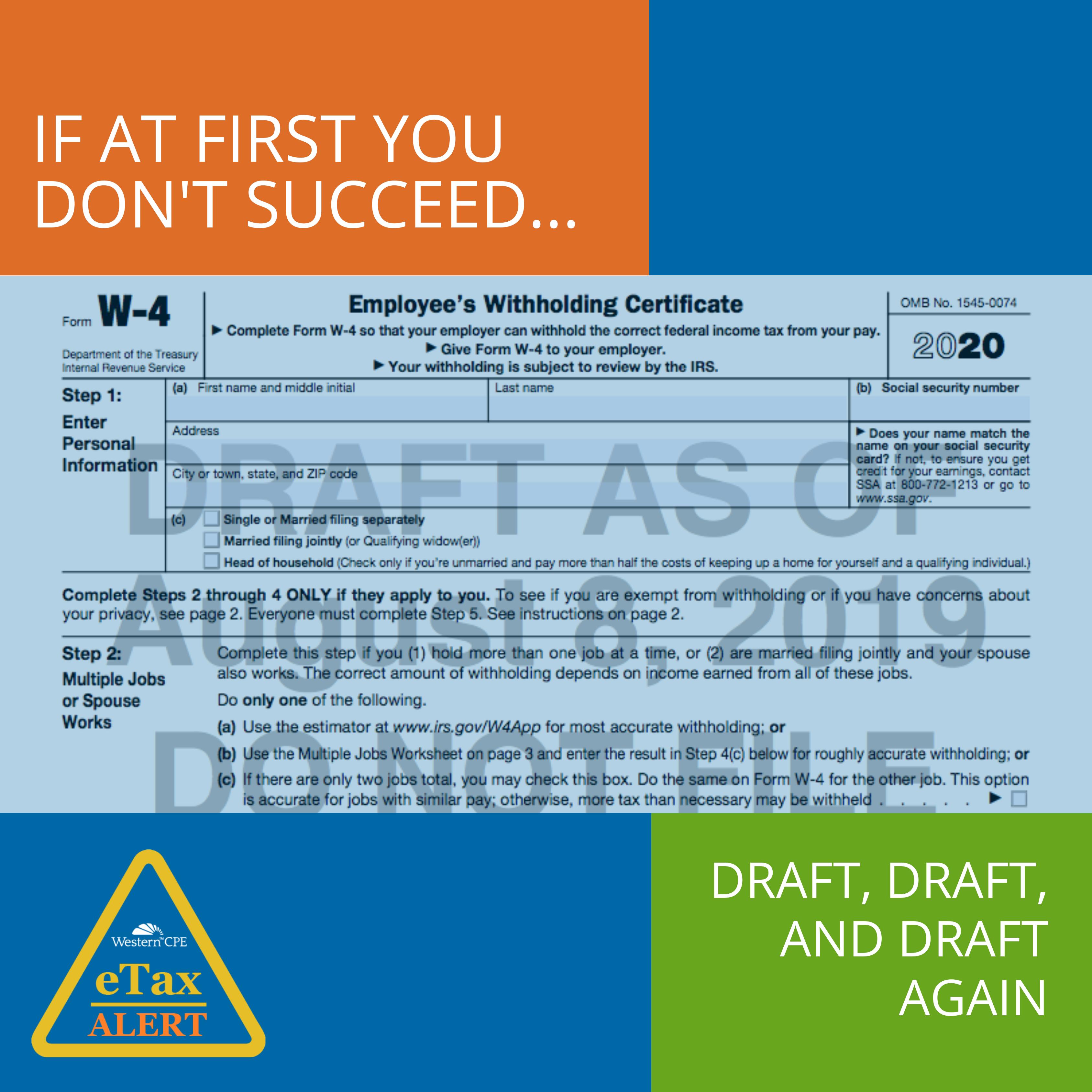 Draft 2020 Form W-4 - Tax Update