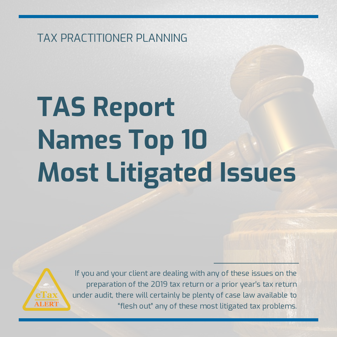 CPE for CPAs - Most litigated issues
