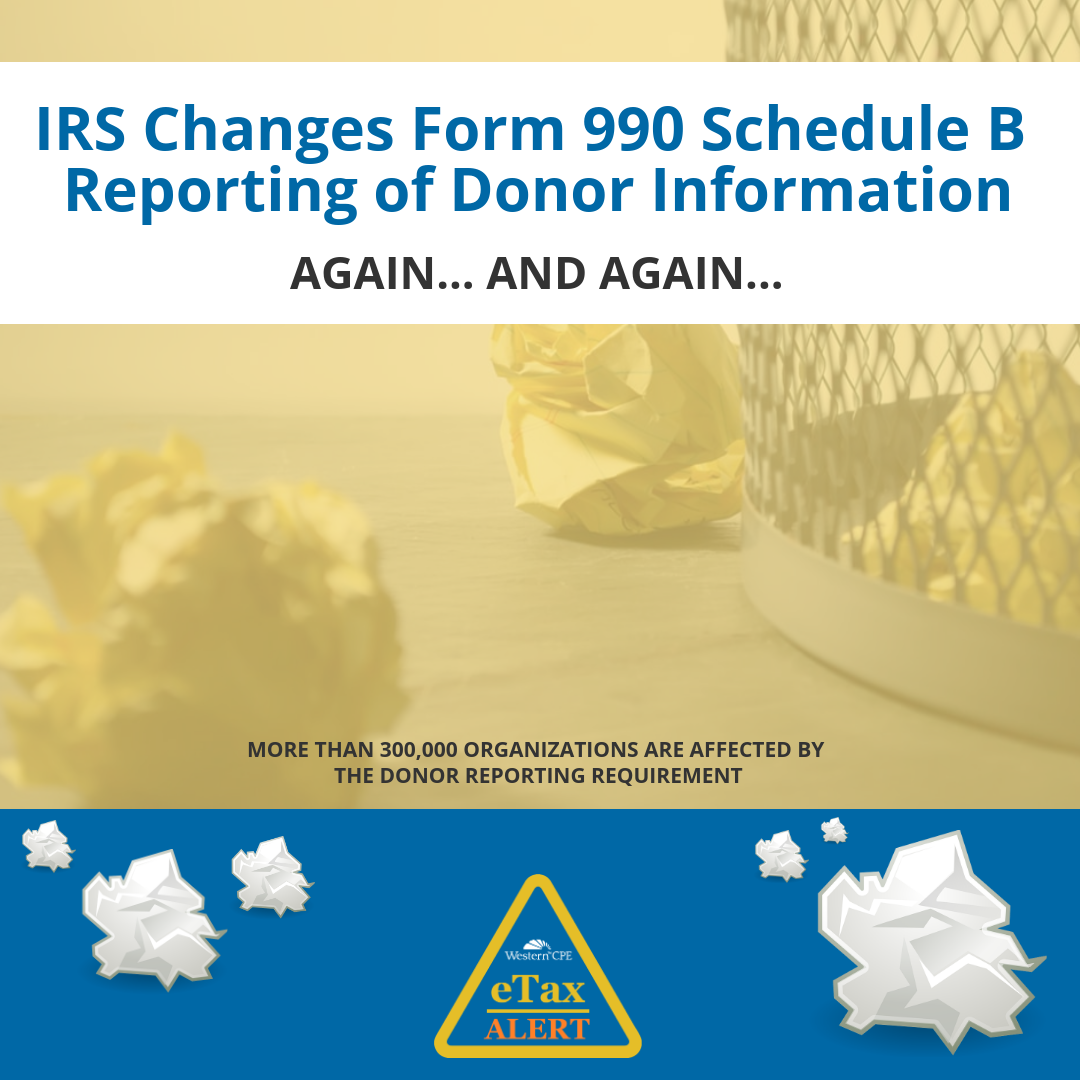 IRS Form 990 Schedule B - CPE for CPAs